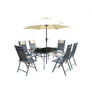Vrtna garnitura Rio - sto 6 stolica i suncobran